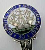 Silver & Enamel Souvenir Spoon, Burntisland, 1908