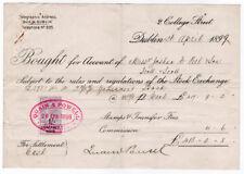 (I.B) QV Revenue : Contract Note 1/- (Dublin 1899)
