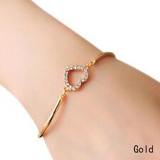 1PC Women Love Heart Hand Chain Link Gold Bracelet Bangle Fashion Girl Cute Gift