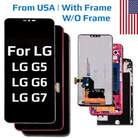 Replacement LCD Touch Digitizer Screen Assembly +Frame for LG G5 G6 G7 ThinQ OEM
