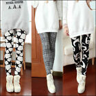 Fashion Women Skinny Print Leggings Stretchy Sexy Jeggings Pencil Pants Autumn