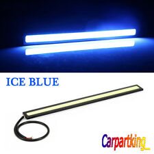 Ice Blue 12V LED DRL Strip Lights Car Truck Boat Interior 17CM Under Dash Floor
