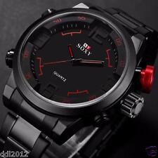 SOXY Men's Waterproof Army Sport Wrist Watch Luxury Military Black Quartz Watch