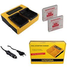 2x Batteria Patona + caricabatteria rapido DUAL LCD per Digital IXUS 120 IS,30