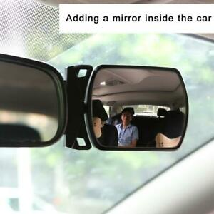 Car Baby Back Seat Rear View Adhesive Mirror For Infant Child Toddler Safety
