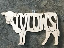 I love Cows Animal  Wood  Christmas Farm  Ornament Gift Tag  USA