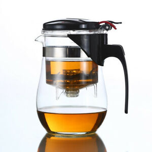 Glass Gongfu Teapot Tea Maker Built in Infuser Removable Tea Ware Tea Pot