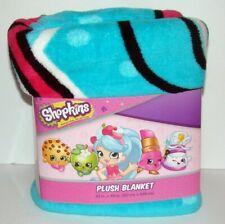 Shopkins Twin Blanket 60x90 Soft Plush Fleece SPK Unite Bedding NEW