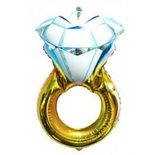 Party Supplies Engagement Wedding Foil Super Shape Gold Ring Balloon 103cm