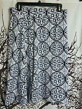 Cato brand blue and white print skirt women's size medium