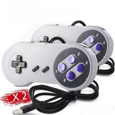 2 x Retro Super Nintendo SNES USB Controller Jopypads for Win PC/MAC Gamepads
