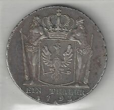 PRUSSIA,  GERMANY,   1793-A,   THALER,  SILVER,  KM#360.1,  ABOUT EXTRA FINE