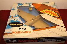 NEW IN BOX COX THIMBLE DROME P-40 WARHAWK RTF MODEL AIRPLANE ENGINE CONTROL LINE