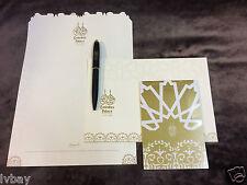 New Emirates Palace Stationery Set Ballpoint Pen / Note Pad / Envelope / Paper