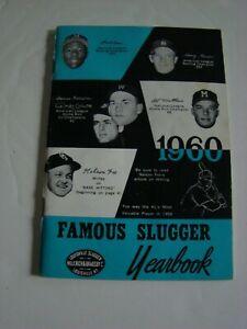 1960 Famous Louisville Slugger Yearbook Aaron Mantle Banks Killebrew Kaline +