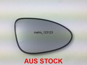 RIGHT DRIVER SIDE HOLDEN BARINA 2011 ONWARD  MIRROR GLASS WITH BACK PLATE