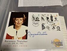 More details for margaret thatcher personally signed f.d.c.