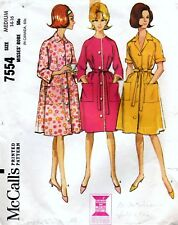 McCall's 7554 Vintage 60's ROBE Sewing Pattern Size 14-16