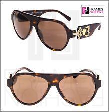 VERSACE Rock Icon Medusa 4323 Brown Tortoise Mirrored VE4323 Aviator Sunglasses