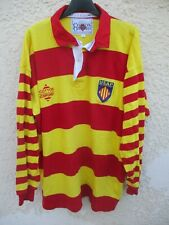 Maillot rugby USAP PERPIGNAN vintage COTTON OXFORD shirt collection XL