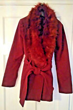 Size 8 purple faux fur collar, womans WOOcoat from New Look excellent condition