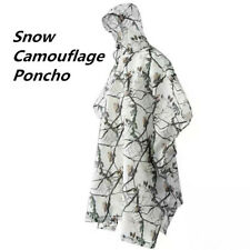 Winter Tactical Snow Camouflage Clothes Suits White Camo Poncho for hunting Hide