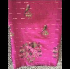 Pure Dhaka Silk Cotton Saree With Stitched Blouse