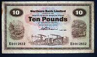 """1970 Northern Bank, Ten pounds, £10 Prefix """"E"""" Wilson banknote *[12997]"""