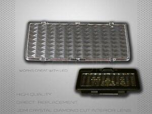 SCION FR-S BRZ ZN6 GT86 JDM DIAMOND CRYASTAL CLEAR INTERIOR DOME MAP LENS COVER