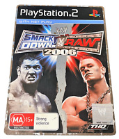 Smack Down Vs Raw 2006 Sony PS2 PAL *Complete* Steelbook
