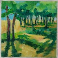 "Contemporary Oil Painting on Canvas Landscape Unframed Art Decor (8"" x 8"")"
