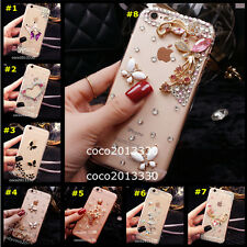 Glitter Crystal Bling Rhinestone Diamonds Soft Silicone TPU back Case Cover #G