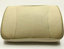 Premium Beige Genuine Leather Memory Foam Car Seat Cushion Pillow Home Office