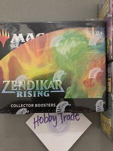 MTG - Zendikair Rising - Collector Booster Box sealed W/ 100ct Dragon Shield NEW