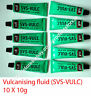 Rema Tip Top vulcanising fluid SVS-VULC 10X 10g Cement TYRE TUBE PUNCTURE REPAIR