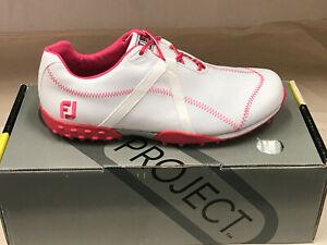NEW FootJoy 95615 M-Project White/Pink Womens Golf 8M WATERPROOF Were $135