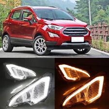 For Ford EcoSport 2018 2019 DRL LED Daytime Running Light Fog Turn Signal Lamp