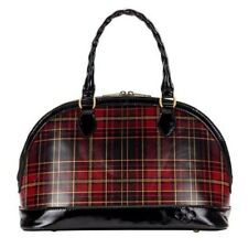 Patricia Nash NWT Tarma Foiled leather Tartan bag plaid red and black