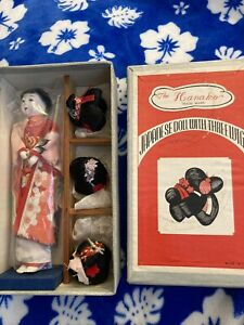Vintage The Hanako Japanese Geisha Doll with Three Wigs in Original Box