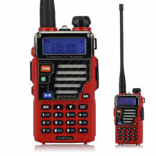 US Baofeng UV-5R Plus Dual-Band 2m/70cm VHF UHF HT FM Ham Two-way Radio Red