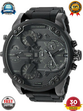 NEW DIESEL DZ7396 BLACK MENS MR DADDY 2.0 57MM CHRONOGRAPH WATCH Fast shipping