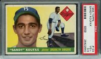 1955 Topps Baseball | Sandy Koufax ROOKIE RC Card # 123 | PSA 3.5 VG