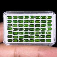 56 Pcs Natural Chrome Diopside 5mm/3mm Vivid Green Premium Quality Gemstones Lot