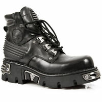 NEW ROCK M.924-S1 BLACK REACTOR SOLE GOTHIC NEWROCK LEATHER BOOT ANKLE BOOTS