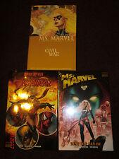 Ms Marvel Hc 2 7 9 Rare Oop Civil War Dark Reign Avengers Wolverine Spiderman
