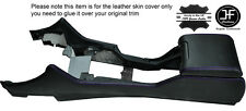 PURPLE STITCHING CENTRE CONSOLE & ARMREST LEATHER COVERS FITS BMW E39 1996-2003