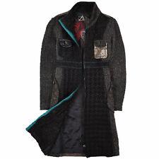 Desigual Damen Mantel Jacke Coat Jacket Gr.40 Wolle Mehrfarbig 88693