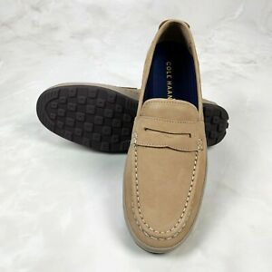 COLE HAAN Men's Boat Loafers Claude Penny C30989 Beige Casual Shoes Size 9.5 M