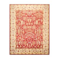 """9'1"""" x 11'11"""" Hand Knotted 100% Wool Peshawar Traditional Oriental Area Rug Rust"""