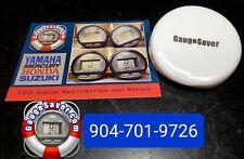 Round Digital Gauge Covers for Yamaha, Mercury, Honda, Suzuki - Color White